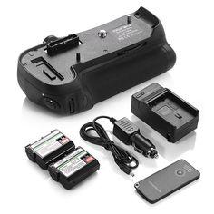 MB-D12 Battery Grip + 2x EN-EL15 Batteries + Charger For Nikon D800 D800E D810 #DBK