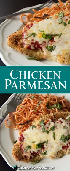Baked Chicken Parmesan from dishesanddustbunnies.com