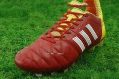 Adidas 11Pro TRX FG Soccer Cleats Red White Slime 56b2473980207