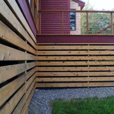 If your deck or porch is elevated, even a little, above grade level, it's best to polish off the underside with landscaping, skirting or other methods. Find and save ideas about Deck skirting ideas on here. Mobile Home Skirting, House Skirting, Deck Skirting, Cool Deck, Diy Deck, Under Deck Storage, Front Porch Deck, Under Decks, Remodeling Mobile Homes