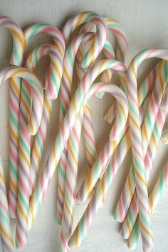 Pastel Candy Canes by such pretty things, via Flickr