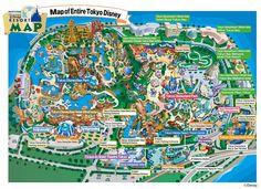 Japan Day 8 – Tokyo Disneyland or Disneysea? Walt Disney, Disney Map, Disneyland Map, Tokyo Disney Sea, Tokyo Disney Resort, Disney Resorts, Disney Trips, Disney Travel, Tokyo Tourist Map