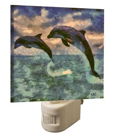 Flip and Flop - Dolphin Pair Night Light From Doggylips by DoggyLips on Etsy