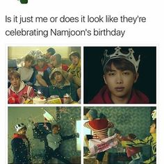 Ok just saw a theory that this is when he died and its his heaven kind of thing. So what if thats why he has the crown and it seemd like its his birthday? He's always wanted to be celebrated and loved and to be the center for once in his life Bts Mv, Bts Bangtan Boy, Bts Boys, Bts Jimin, Bts Theory, Bts Facts, Drama Memes, Bts Stuff, About Bts