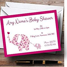 Personalized pink jungle baby shower invitations and envelopes one personalized pink jungle baby shower invitations and envelopes one dozen printed nv082 pinterest baby shower fun and shower invitations filmwisefo