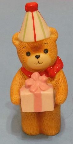 Lucy and Me 1980 Birthday Bear Porcelain Figurine by Enesco