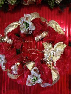 Angel Mesh Wreath 20 X20 $40