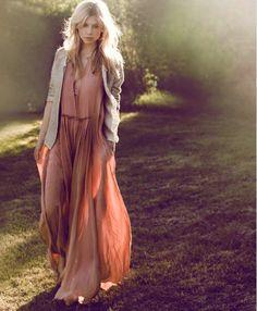 Long blush dress #clemence