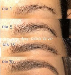 makeup ojos – Hair and beauty tips, tricks and tutorials How To Do Eyebrows, Sparse Eyebrows, Tweezing Eyebrows, Thick Eyebrows, Castor Oil Eyebrows, Castor Oil For Hair, Eye Makeup Tips, Eyebrow Makeup, Face Makeup