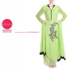 Asymetrical Georgette Suit for Women online from simaaya