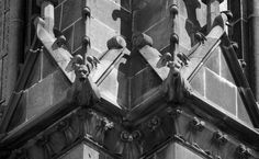 Twin gargoyles on the 13th century cathedral of Clermont-Ferrand France [OC] [4736x2924]