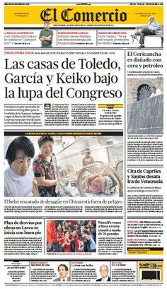 La portada de la edición impresa de El Comercio. Léela aquí --> http://owl.li/lxz8H