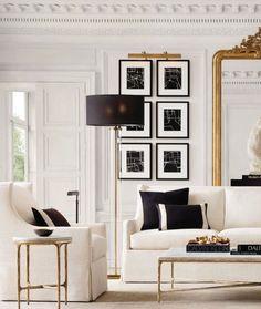 Art Deco Living Room, Living Room Furniture Sale, Living Room Setup, Ikea Living Room, Room Interior Design, Home Interior, Living Room Interior, Interior Modern, Modern White Living Room