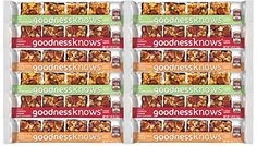 goodnessknows Healthy Snack Bars Count 12 Variety Pack with Cranberry Apple Peach Cherry flavors ** Learn more by visiting the image link. (This is an affiliate link and I receive a commission for the sales) Healthy Snack Bars, Healthy Eating, Healthy Recipes, Gluten Free Diet, Foods With Gluten, Cereal Bars, How To Eat Paleo, Junk Food, Peach
