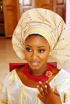 Yoruba bride ~African Prints, African women dresses, African fashion styles, African clothing, Nigerian style, Ghanaian fashion ~DK