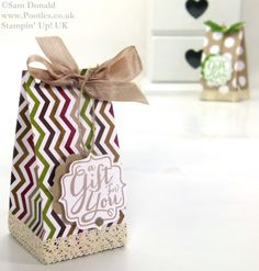 POOTLES Stampin Up UK ADVENT COUNTDOWN 19 Table Gift Bag 3