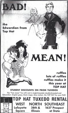 Bad, mean tuxes! Vintage tuxedo ad (click through for analysis)