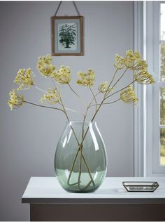 Three Queen Anne's Lace Sprays - Artificial Flowers & Plants - Decorative Home Accessories - Luxury Homeware Outdoor Topiary, Outdoor Pots, Artificial Flowers And Plants, Artificial Flower Arrangements, Branches, Queen Annes Lace, Faux Plants, Centerpiece Decorations, Recycled Glass