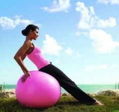 Work-out - Using a Medicine Ball or Yoga Ball to do ab workouts.