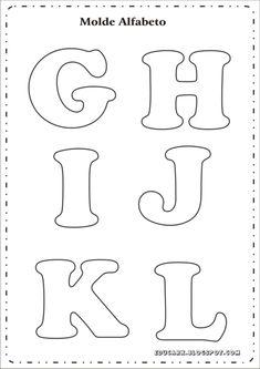 best ideas about Moldes letras Alphabet Letter Templates, Alphabet Stencils, Printable Letters, Alphabet And Numbers, Stencil Lettering, Felt Patterns, Applique Patterns, Felt Crafts, Diy And Crafts