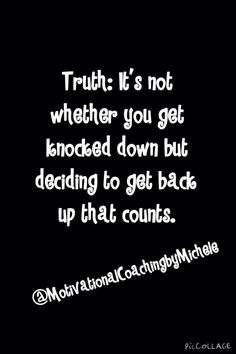 Truth! Never give up the fight!