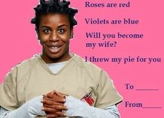 For all my 'orange is the new black' fans....=)