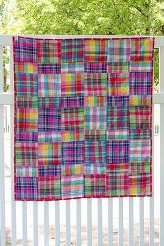 Madras quilt. Love the plaid!