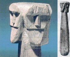Statue of Svetovid (Swiatowit). Museum of Archaeology in Krakow, Poland. Svetovid (or Svantovit) passed into Christianity as Sveti Vid (St. Vitus). #slavic