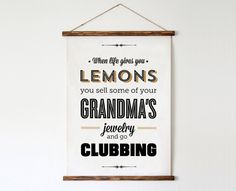 Typography Print Quote Print Parks and Rec Tom by paperchat, $40.00