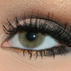 Sexy Golden Smokey Eye Makeup #eyes