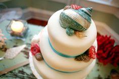 Beach Wedding Cake, Seashells, Southern Event Planners