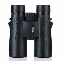 BIJIA 10x42 Binoculars Military HD High Power Telescope Professional Hunting Outdoor Sport Travel Scope Army Green