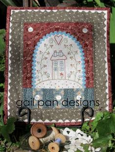 A Ric Rac Home - by Gail Pan Designs - Wallhanging PatternSECONDARY_SECTION$11.00: Fabric Patch: Patchwork Quilting fabrics, Moda fabric, Qu...