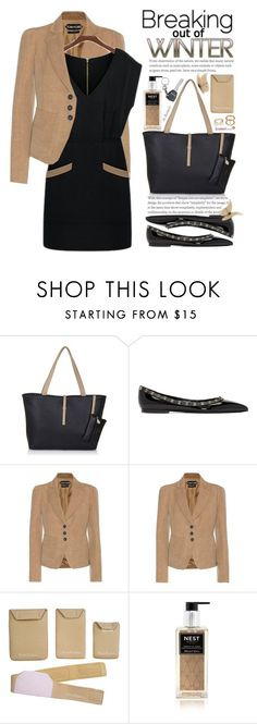 """""""Here Comes The Spring - Work Wear"""" by beebeely-look ❤ liked on Polyvore featuring Valentino, Tom Ford, PortaPocket, Nest Fragrances, WorkWear, blazer, valentino, blackdress and sammydress"""
