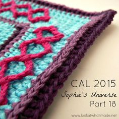 Part 18 of Sophie's Universe CAL 2015. This crochet-along is a 20-week project with step-by-step photos, video tutorials, and translations. #lookatwhatimade #sophiesuniversecal2015 #learntocrochet