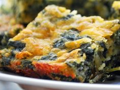 Mom's Spinach Cheese Squares
