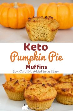 This Keto Pumpkin Pie Muffins recipe is a delicious low-carb option for breakfast or dessert. It is suitable for the ketogenic diet or for diabetics. Without added sugars it is low in carbs and will…More 15 Indulgent Keto Friendly Halloween Treats Ideas Desserts Keto, Keto Friendly Desserts, Keto Snacks, Dessert Recipes, Dinner Recipes, Soup Recipes, Raw Recipes, Smoothie Recipes, Pumpkin Pie Muffins
