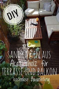 Ein DIY – Sandkasten für unseren Balkon – Bauanleitung Hydrangea Care, Natural Acne Remedies, Outdoor Balcony, Cool Plants, House Plants, Table, Pinterest Design, Home Decor, Amelie