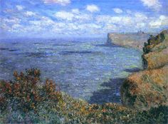 Claude Monet cloud shadows on sea