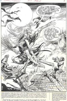 Redondo - Weird Mystery Tales 17, Intro Splash Comic Art