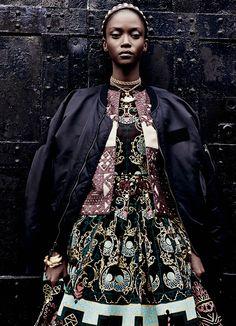 Riley Montana + Valentino. #fashion #photography #modelsofcolor