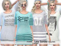 4  distinct designs.  Found in TSR Category 'Sims 4 Female Sleepwear'