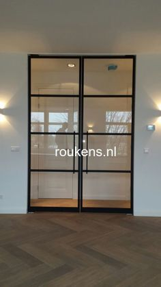 Concept doors into study Flat Interior, Interior Windows, Harewood House, Steel Doors And Windows, Flur Design, Interior Sliding Barn Doors, Living Comedor, Aluminium Doors, House Doors