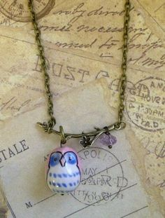 Owl About It Necklace. $21.99, via Etsy, Shine! Couture
