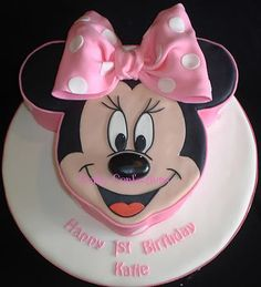 how to make a minnie mouse head cake - Google Search ...