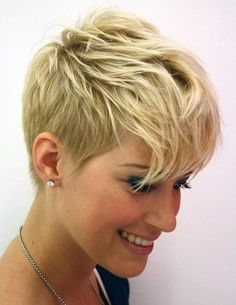 very short hairstyles with highlight for thin hair - Women ...