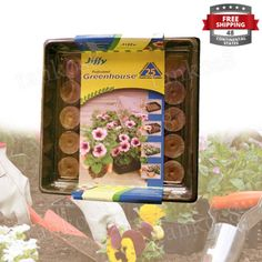 Indoor-25-Plant-Tray-Starter-Kit-Flower-Greenhouse-42mm-Seed-Herb-Plastic-New