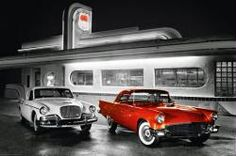 #Route #66 #poster: #Diner (36'' X 24'') #red #car Only $6.97