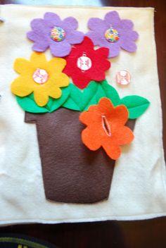 Flower pot Quiet Book