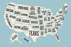 Map of United States of America by Foxys Graphic on can find 50 states and more on our website.Map of United States of America by Foxys Graphic o. United States Map, U.s. States, Map Of States, Usa States Names, Diy Usa, Iowa, Road Trip, States In America, Map America